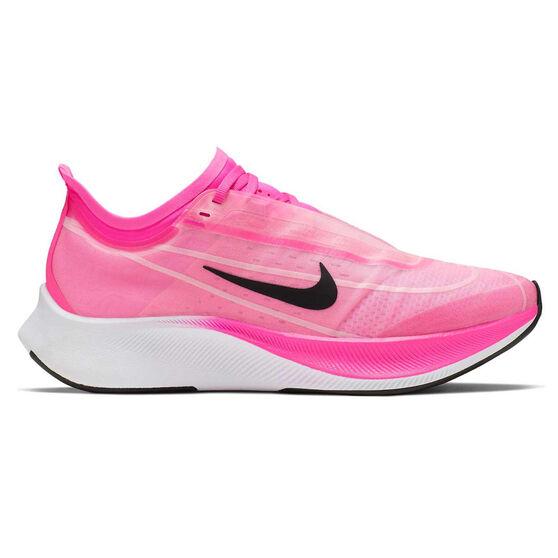 Nike Zoom Fly 3 Womens Running Shoes Pink / Grey US 8.5, Pink / Grey, rebel_hi-res