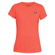 Under Armour Womens UA Microthread Train Twist Tee, Pink, rebel_hi-res
