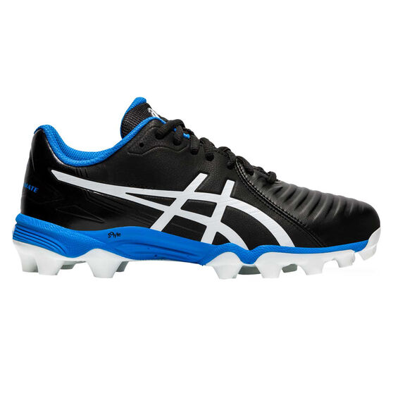 Asics Lethal Ultimate Kids Football Boots, Black / White, rebel_hi-res