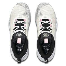 Under Armour Curry HOVR Splash Basketball Shoes, White/Black, rebel_hi-res
