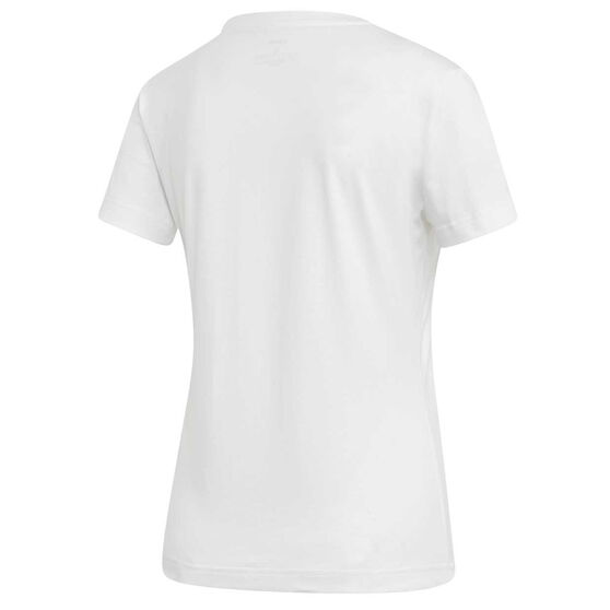 adidas Womens Boxed Graphic Tee, White, rebel_hi-res