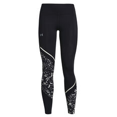 Under Armour Womens Fly Fast 2.0 Print Tights Black XS, Black, rebel_hi-res