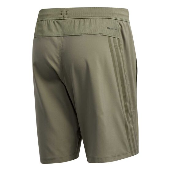 adidas Mens AEROREADY 3-Stripes Shorts Green S, Green, rebel_hi-res