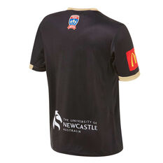 Newcastle Jets FC 2019/20 Mens Alternate Jersey Black S, Black, rebel_hi-res