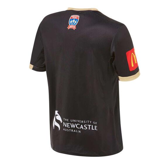 Newcastle Jets FC 2019/20 Mens Alternate Jersey Black S, Black, rebel_hi-res