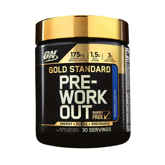 Optimim Nutrition Gold Standard Blueberry Pre Workout 30 Serves, , rebel_hi-res