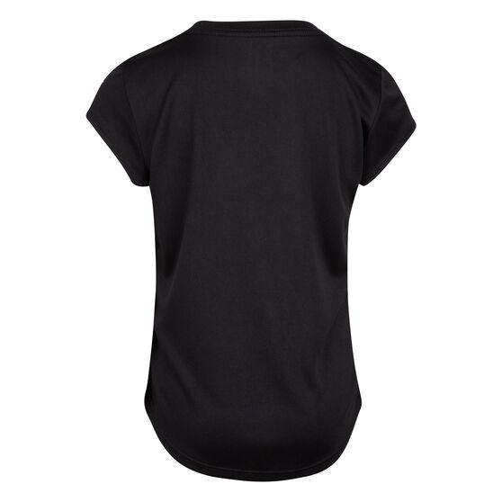 Nike Girls SS Graphic Tee, Black, rebel_hi-res