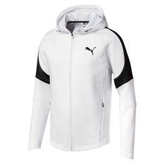 Puma Mens Evostripe Move Hoodie White S, White, rebel_hi-res