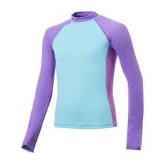 Tahwalhi Girls Mandala Long Sleeve Rash Vest Blue / Pink 8, Blue / Pink, rebel_hi-res
