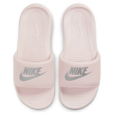 Nike Victori One Womens Slides Pink/Silver US 6, Pink/Silver, rebel_hi-res