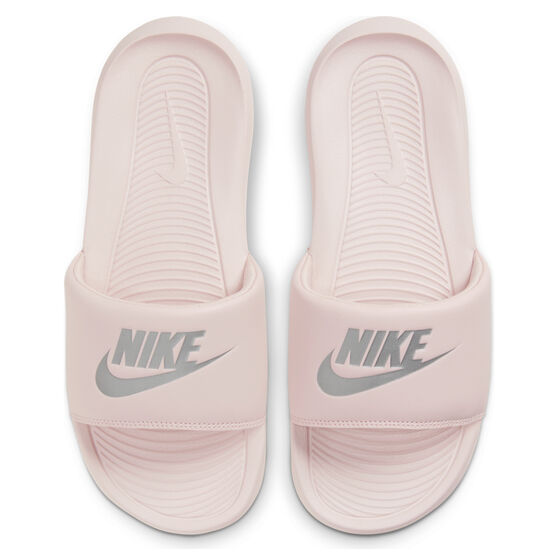 Nike Victori One Womens Slides, Pink/Silver, rebel_hi-res