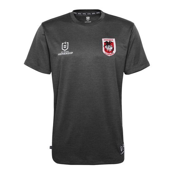 St George Illawarra Dragons 2021 Mens Performance Tee, Black, rebel_hi-res