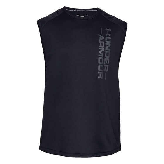 Under Armour Mens MK 1 Terry Singlet, Black, rebel_hi-res