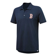 Boston Red Sox Mens Pique Polo Navy S, Navy, rebel_hi-res