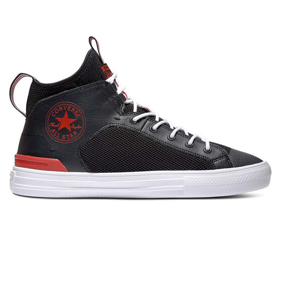 Converse Chuck Taylor All Star Ultra Mens Casual Shoes, Black/Red, rebel_hi-res