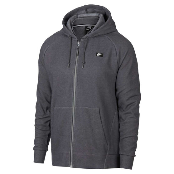 Nike Mens Sportswear Optic Hoodie Grey M, Grey, rebel_hi-res
