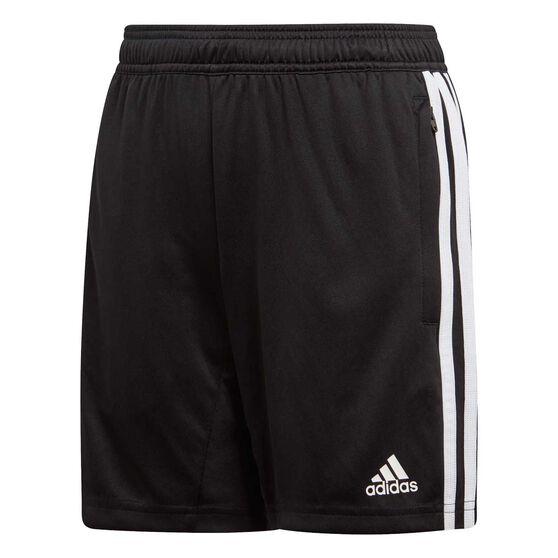 adidas Boys Tiro 19 Training Shorts, Black / White, rebel_hi-res