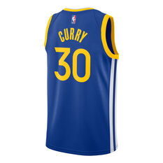 Golden State Warriors Steph Curry 2020/21 Mens Icon Jersey Blue S, Blue, rebel_hi-res