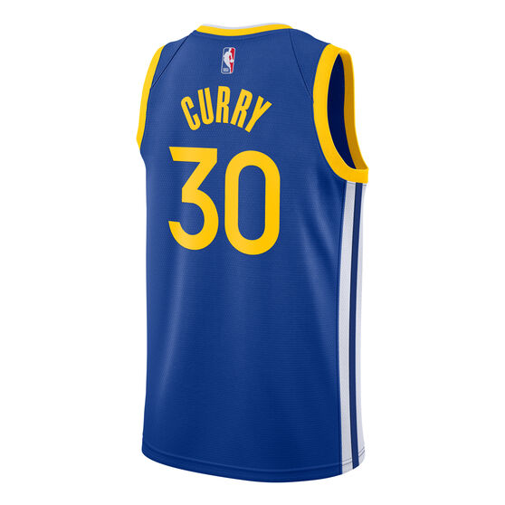 Golden State Warriors Steph Curry 2020/21 Mens Icon Jersey, Blue, rebel_hi-res
