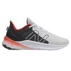 New Balance Fresh Foam Roav v2 Mens Running Shoes White/Black US 7, White/Black, rebel_hi-res