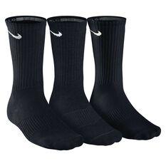 Nike Cushion Cushion Crew 3 Pack Socks Black XL, Black, rebel_hi-res