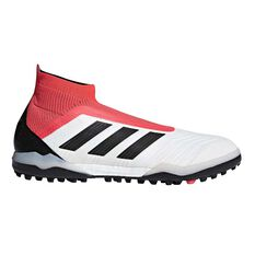 adidas Predator Tango 18 Mens Touch and Turf Shoes White / Black US 7 Adult, White / Black, rebel_hi-res