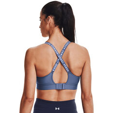 Under Armour Womens Infinity Mid Sports Bra, Blue, rebel_hi-res