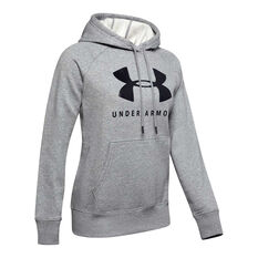 Under Armour Womens Rival Fleece Sportstyle Graphic Hoodie, Grey, rebel_hi-res