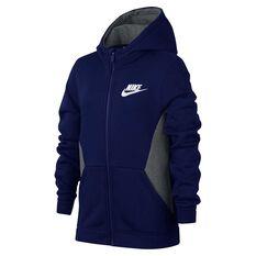 Nike Boys Full-Zip Hoodie Blue / Grey XS, Blue / Grey, rebel_hi-res