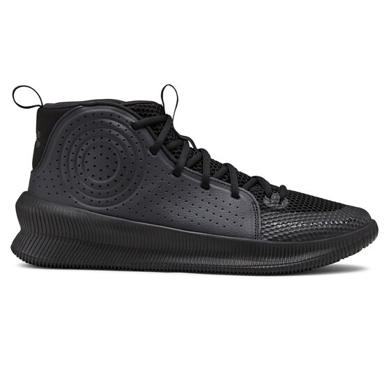 Under Armour Jet Mid Mens Basketball Shoes, Black, rebel_hi-res