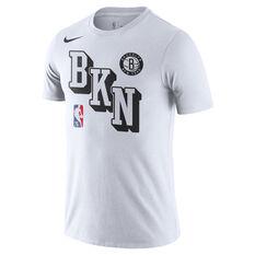 Nike Brooklyn Nets 3D Block Tee White S, White, rebel_hi-res