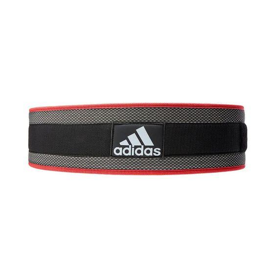 adidas Adi Lumbar Belt Black / Red XL, Black / Red, rebel_hi-res