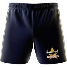 North Queensland Cowboys  Mens Club Fleece Shorts Navy, Navy, rebel_hi-res