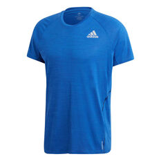 adidas Mens Runner Tee Blue S, Blue, rebel_hi-res