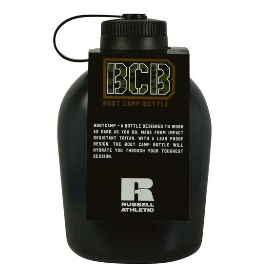Russell Athletics Boot Camp 1L Water Bottle Black 1L, Black, rebel_hi-res