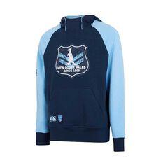NSW State of Origin Mens Vintage Shield Hoodie Blue S, Blue, rebel_hi-res