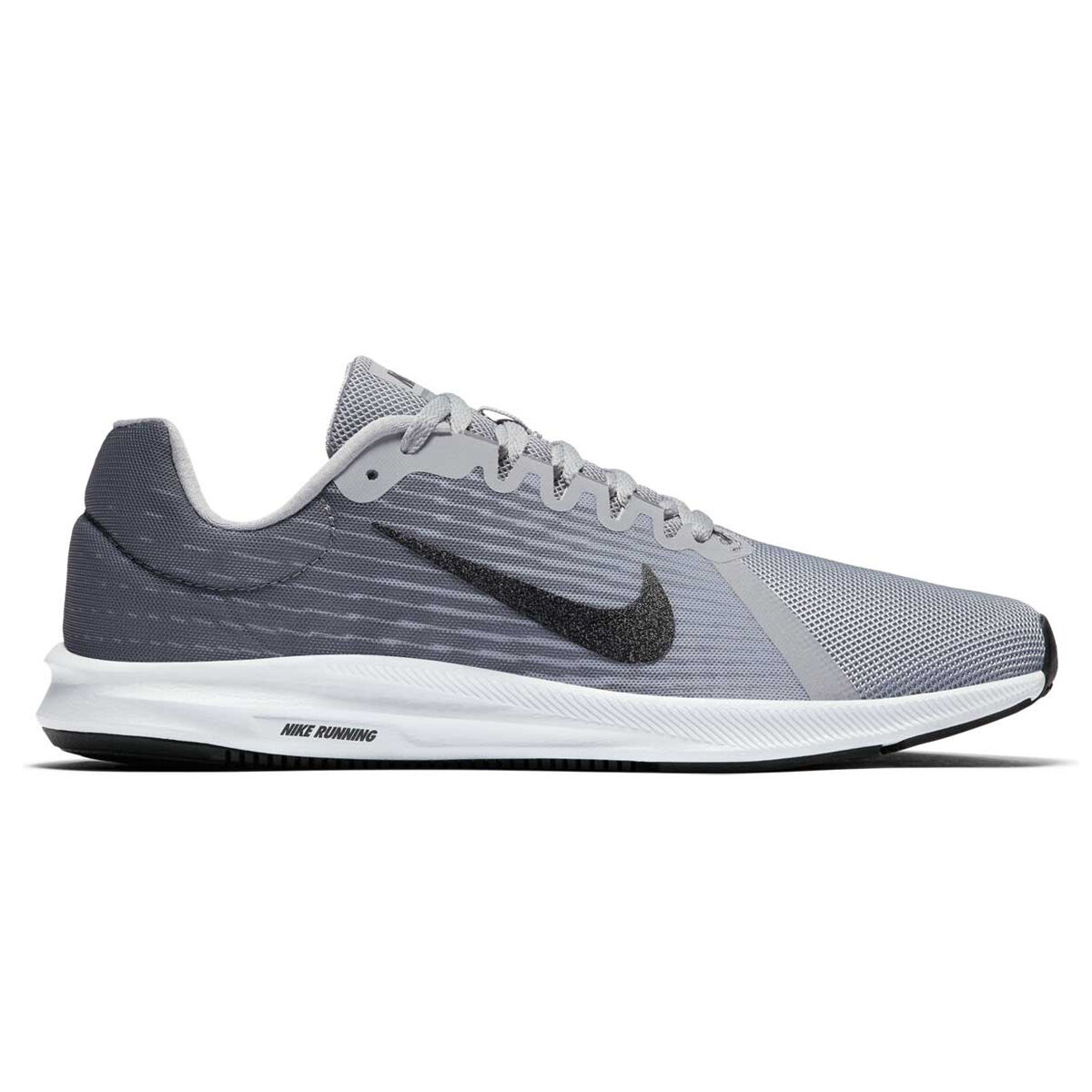 Nike Downshifter 8 Mens Running Shoes Grey Black US 8.5