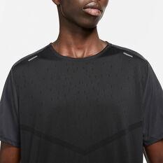 Nike Mens Run Division Rise 365 SS Tee Black S, Black, rebel_hi-res