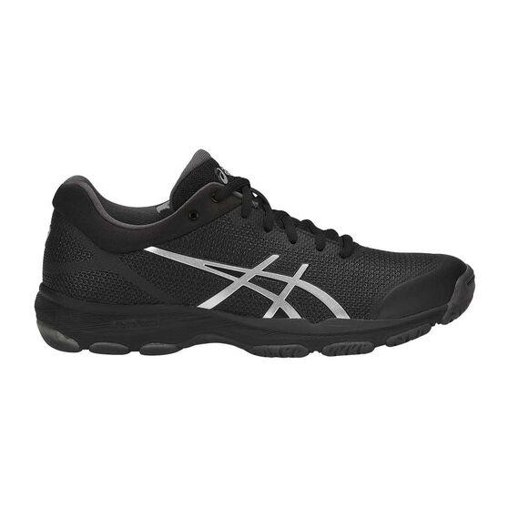 Asics Netburner Professional FF Womens Netball Shoes Black / Silver US 6, Black / Silver, rebel_hi-res