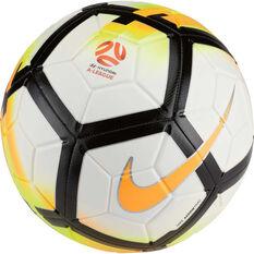 Nike Strike A League Soccer Ball White / Orange 5, White / Orange, rebel_hi-res