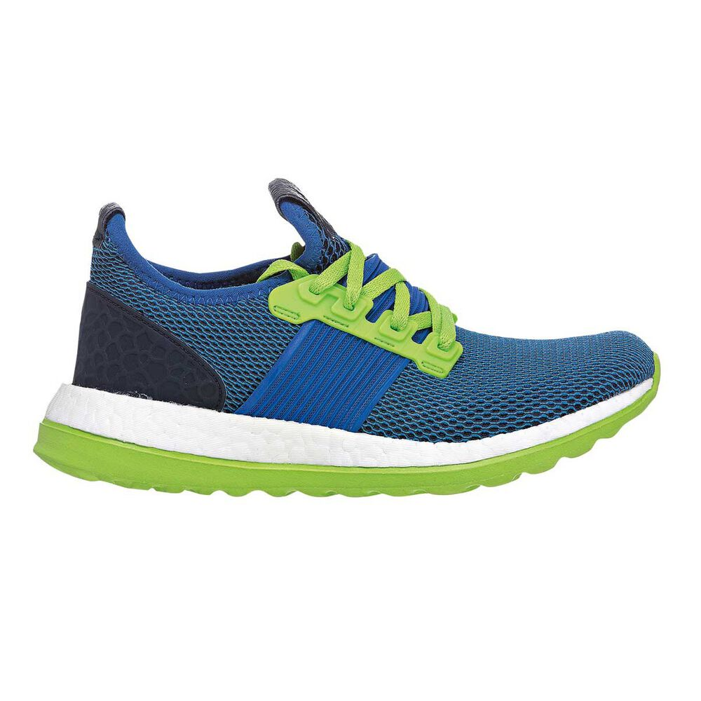 be75279ab43e8 adidas Pure Boost ZG Boys Running Shoes Blue   Green US 4