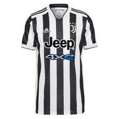 Juventus FC 2021/22 Mens Home Jersey Black/White S, Black/White, rebel_hi-res