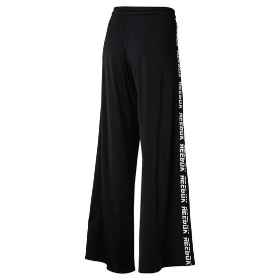 Reebok Womens WOR Meet You There Wide Leg Pants, Black, rebel_hi-res