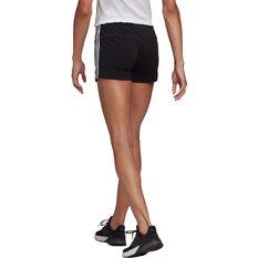 adidas Womens Essentials Slim 3-Stripes Shorts Black XS, Black, rebel_hi-res
