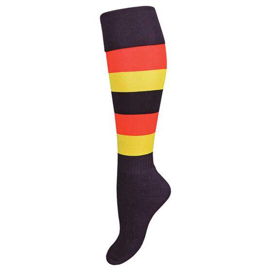 Burley Adelaide Kids Football Socks, , rebel_hi-res