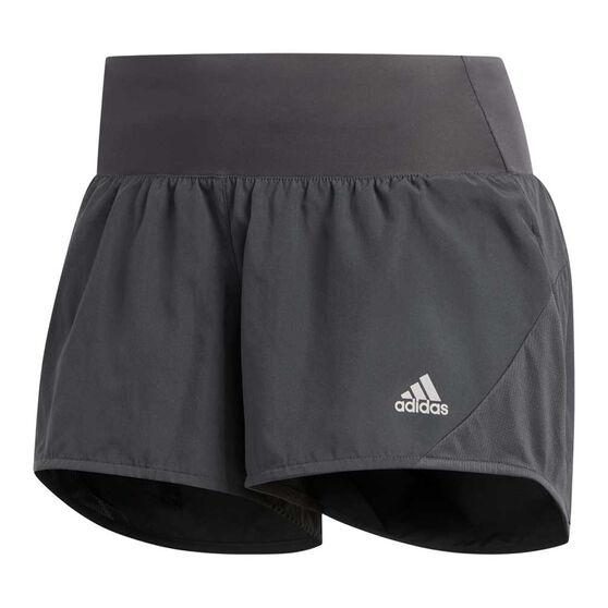 adidas Womens Run It 3-Stripes Shorts, Grey, rebel_hi-res