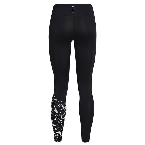 Under Armour Womens Fly Fast 2.0 Print Tights, Black, rebel_hi-res