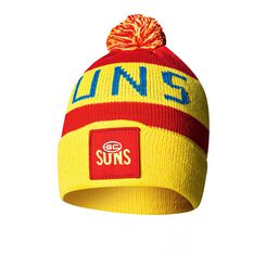 Gold Coast Suns Bar Beanie, , rebel_hi-res