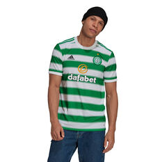Celtic FC 2021/22 Mens Home Jersey White/Green S, White/Green, rebel_hi-res