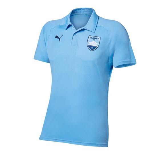 Sydney FC 2018 / 19 Mens Team Polo Shirt Blue L, Blue, rebel_hi-res